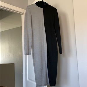 Zara block color dress with turtle neck -worn once